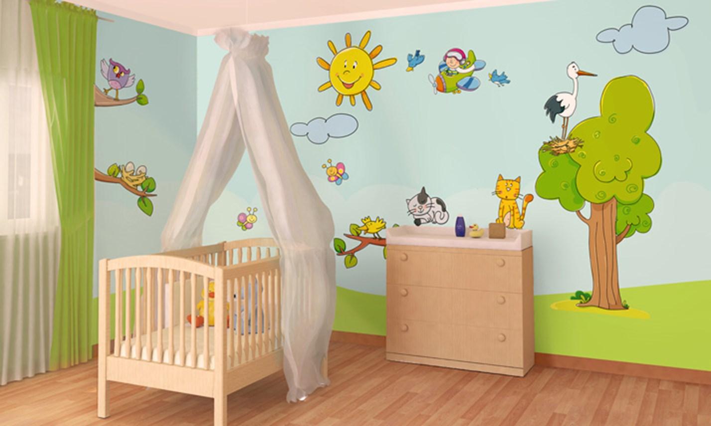 Stickers murali bambini cameretta al parco leostickers - Adesivi per mobili bambini ...